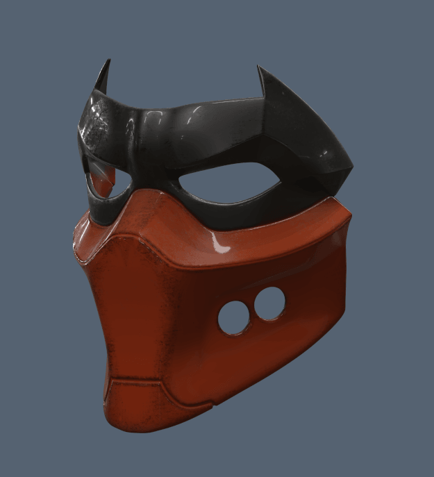 Untitled.png Download STL file Red Hood Mask • 3D printing object, VillainousPropShop