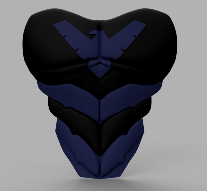 Nightwing Chest Plate.png Download STL file Nightwing Chest Armor with Free Mask • 3D print design, VillainousPropShop