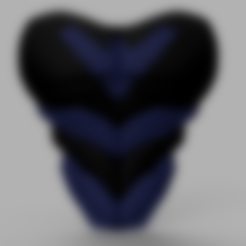 Abs 1.stl Download STL file Nightwing Chest Armor with Free Mask • 3D print design, VillainousPropShop