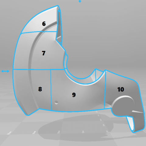 split2.png Download STL file Deathstroke Injustice Helmet • 3D printable model, VillainousPropShop