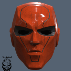 Download 3D printer templates Red Hood New 52 Helmet , VillainousPropShop