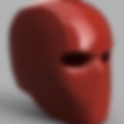 Download free 3D printing files Red Hood Helmet (Batman), VillainousPropShop