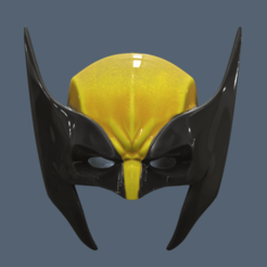 3D printer models Wolverine Mask, VillainousPropShop