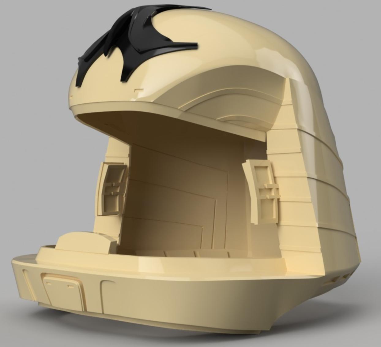 Capture d'écran 2017-09-15 à 16.16.15.png Download free STL file Battlestar Galactica Colonial Viper Pilot Helmet • 3D printing object, VillainousPropShop