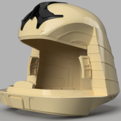 Download free 3D printer designs Battlestar Galactica Colonial Viper Pilot Helmet, VillainousPropShop