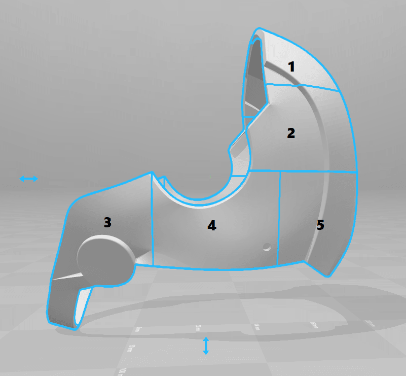 split.png Download STL file Deathstroke Injustice Helmet • 3D printable model, VillainousPropShop