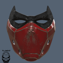 Télécharger fichier impression 3D Masque capuche rouge version 2, VillainousPropShop