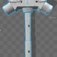 Free 3D printer model Thor Ragnarok Hulk's Hammer, VillainousPropShop
