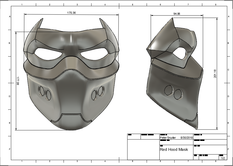 d1.png Download STL file Red Hood Mask • 3D printing object, VillainousPropShop
