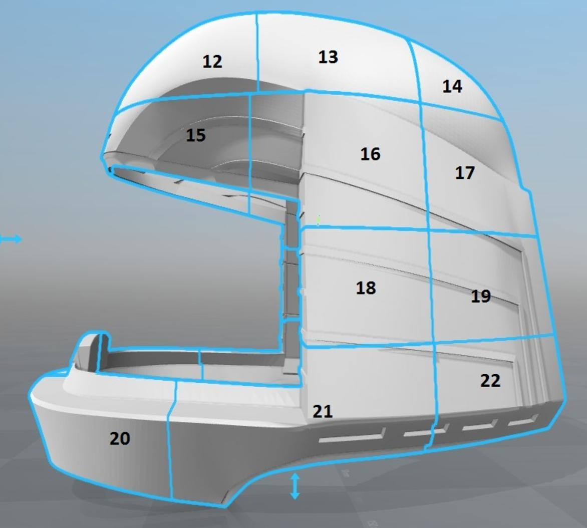 Capture d'écran 2017-09-15 à 16.16.33.png Download free STL file Battlestar Galactica Colonial Viper Pilot Helmet • 3D printing object, VillainousPropShop