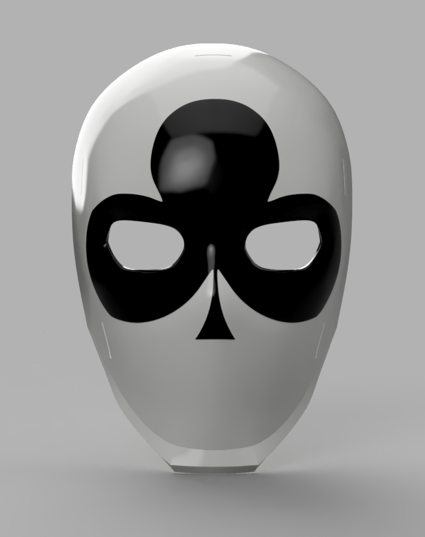 Wild Card Clubs Mask.png Download STL file Wild Card Masks Fortnite  • 3D print model, VillainousPropShop