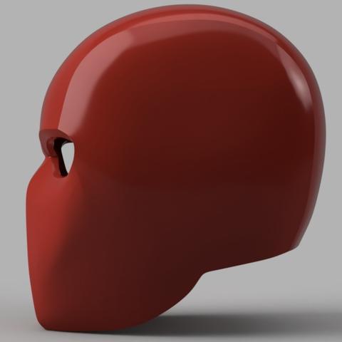 Capture d'écran 2017-09-15 à 16.32.38.png Download free STL file Red Hood Helmet (Batman) • 3D printer object, VillainousPropShop