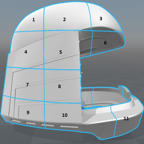 Capture d'écran 2017-09-15 à 16.16.27.png Download free STL file Battlestar Galactica Colonial Viper Pilot Helmet • 3D printing object, VillainousPropShop