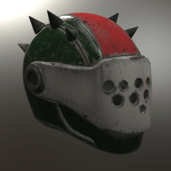 STL file Rust Lord Helmet Fortnite, VillainousPropShop