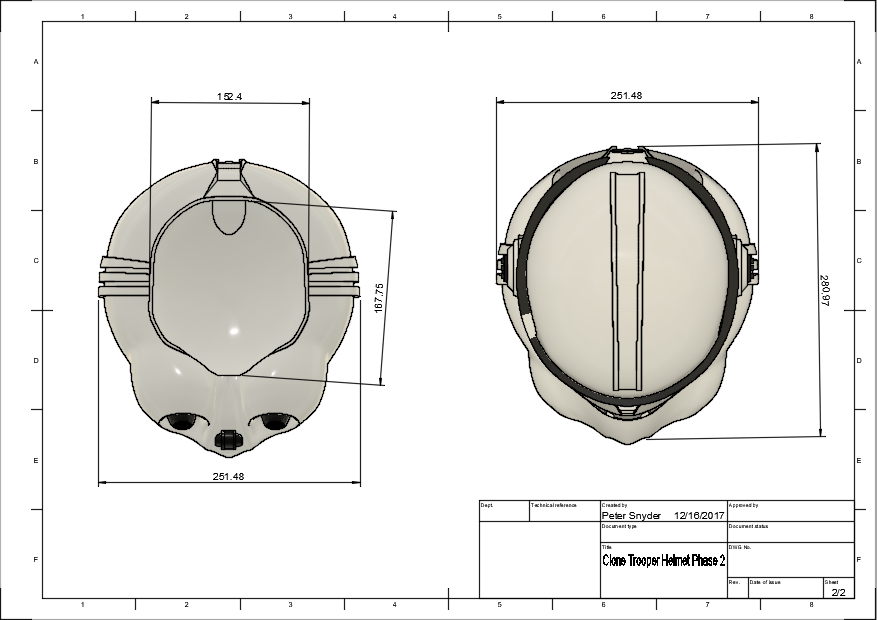 d2.png Download free STL file Clone Trooper Helmet Phase 2 Star Wars • 3D printable template, VillainousPropShop