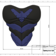 d1.png Download STL file Nightwing Chest Armor with Free Mask • 3D print design, VillainousPropShop