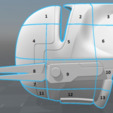 Free 3D printer designs Imperial Super Commando Helmet (Star Wars), VillainousPropShop