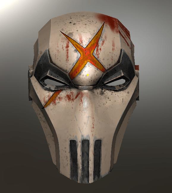 Red X.png Download STL file Deathstroke Injustice Helmet • 3D printable model, VillainousPropShop