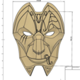 Capture d'écran 2017-09-15 à 09.56.23.png Download free STL file Jhin Mask (League of Legends) • 3D printing template, VillainousPropShop