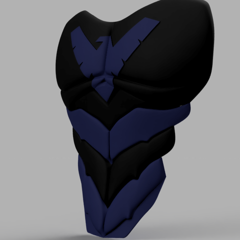 Nightwing Chest Plate 2.png Download STL file Nightwing Chest Armor with Free Mask • 3D print design, VillainousPropShop
