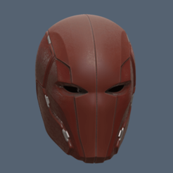 3D printer files Red Hood Injustice 2 Helmet, VillainousPropShop
