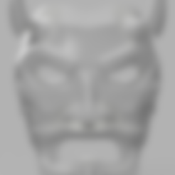 Part_1.stl Download free STL file Uncle Oni Mask • 3D printing object, VillainousPropShop