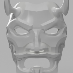Download free 3D printer templates Uncle Oni Mask, VillainousPropShop