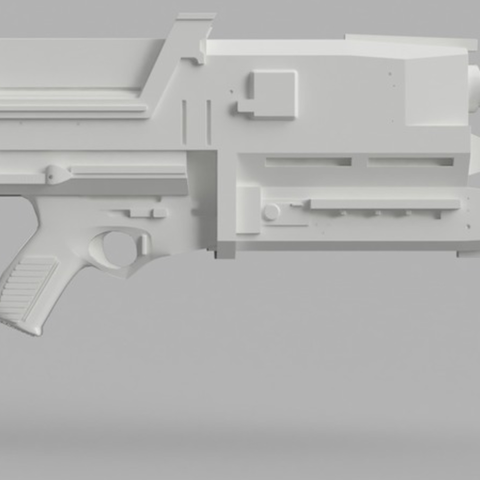 Free Phased Plasma Rifle in the 40 Watt Range (Terminator) 3D model, killonious