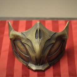 IMG_0208.jpg Download STL file MK 11 Scorpion Mask • 3D printing design, VillainousPropShop