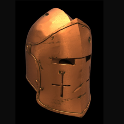 Capture d'écran 2017-09-14 à 15.54.47.png Download free STL file For Honor Warden Helm - Knight • 3D print template, VillainousPropShop
