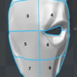 Free 3D printer files Deathstroke mask Arkham Origins with Back Piece, VillainousPropShop