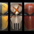 Trio.png Download STL file Deathstroke Injustice Helmet • 3D printable model, VillainousPropShop