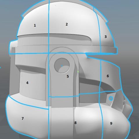 Capture d'écran 2017-09-15 à 19.15.45.png Télécharger fichier STL gratuit Capitaine Rex Casque Phase 2 (Star Wars) • Plan imprimable en 3D, VillainousPropShop