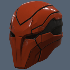 3D printer files Red Hood Injustice 2 Helmet , VillainousPropShop
