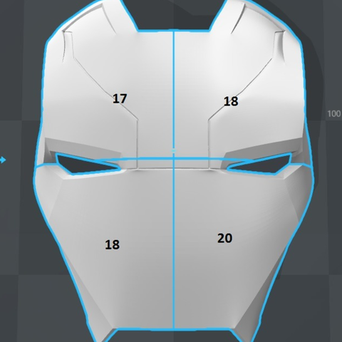 Capture d'écran 2017-09-15 à 09.58.11.png Download free STL file Iron Man Mark 46 Helmet (Captain America Civil War) • 3D printing template, VillainousPropShop
