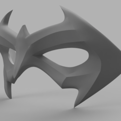 Nightwing Mask 2.png Download STL file Nightwing Mask • 3D printer template, VillainousPropShop
