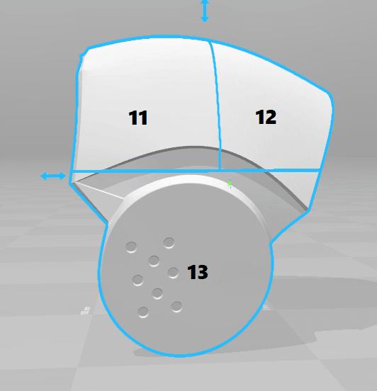 split3.png Download STL file Deathstroke Injustice Helmet • 3D printable model, VillainousPropShop