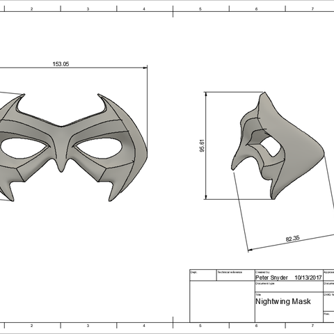 d2.png Download STL file Nightwing Chest Armor with Free Mask • 3D print design, VillainousPropShop