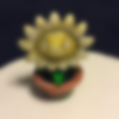 Free STL Plants vs Zombies Potted Sunflower, VillainousPropShop