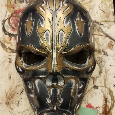 Download free STL Cursed Skull Mask, VillainousPropShop