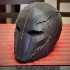 Download 3D printing templates Red Hood Injustice 2 Helmet, VillainousPropShop