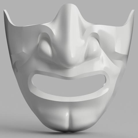 Modelos 3D gratis Samurai Half Mask (Mempo), VillainousPropShop
