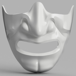 Download free 3D model Samurai Half Mask (Mempo), VillainousPropShop