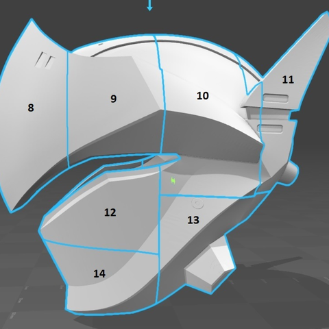 Capture d'écran 2017-09-14 à 17.25.17.png Download free STL file Genji Helmet (Overwatch) • 3D printing template, VillainousPropShop