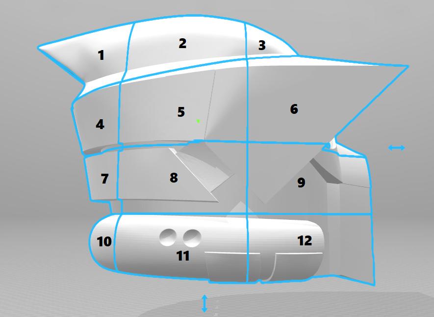 split.png Download STL file ARF Trooper Helmet • 3D print object, VillainousPropShop