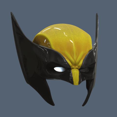 Untitled.png Download STL file Wolverine Mask • 3D printable model, VillainousPropShop