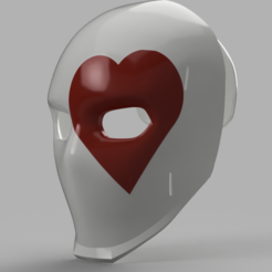 Wild Card Heart Mask.png Télécharger fichier STL Masques Wild Card Fortnite • Design pour impression 3D, VillainousPropShop