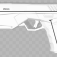 Modèle 3D Pistolet à capuchon rouge Maxim 9 Pistolet, VillainousPropShop