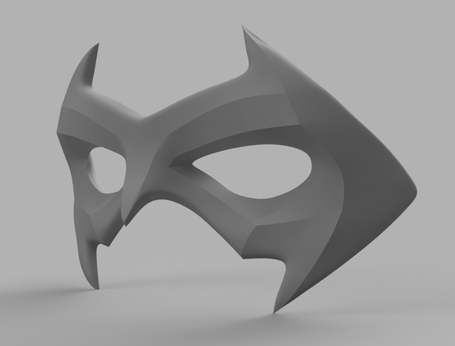 Nightwing Mask 2.png Download STL file Nightwing Chest Armor with Free Mask • 3D print design, VillainousPropShop