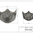 Download STL file MK 11 Scorpion Mask, VillainousPropShop